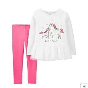 Carter's Toddler Girl 4T Unicorn Outfit Set
